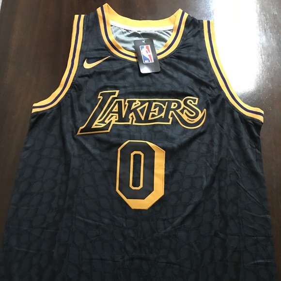 reputable site 26e3b 565c9 New Kyle Kuzma Black Mamba Nike Jersey LA Lakers NWT